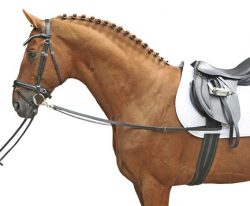 1873 HKM Leather Side Reins / Draw Reins