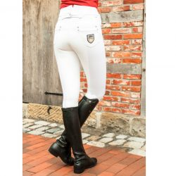 3273 HKM PRO TEAM Mrs Blink Breeches With Full Alos Grip Seat on CLEARANCE