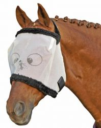 4074 HKM 'Funny' Anti-Rip Fly Mask with No Ears