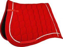 4641 HKM Antique Velvet Saddlecloth Red