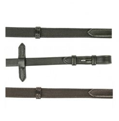 4685 HKM Grip Reins Interwoven with Rubber
