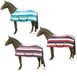 4710 HKM Fashion Stripes Horse Cooler Fleece Rug