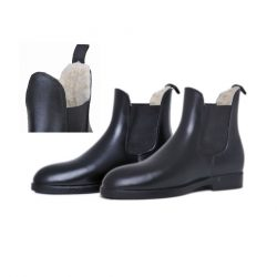 5390 HKM Faux Fur Lined Synthetic Leather Jodhpur Boots