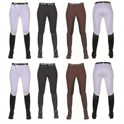 5921 HKM Ladies Stretchy Comfort Breeches with Full GRIP Seat