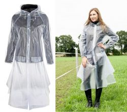 8243 HKM Childrens Waterproof Full Length Transparent Rain Mac
