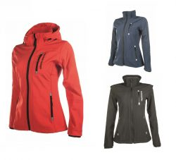 5273 HKM Womens Sport Softshell Water Resistant Horse Riding Jacket