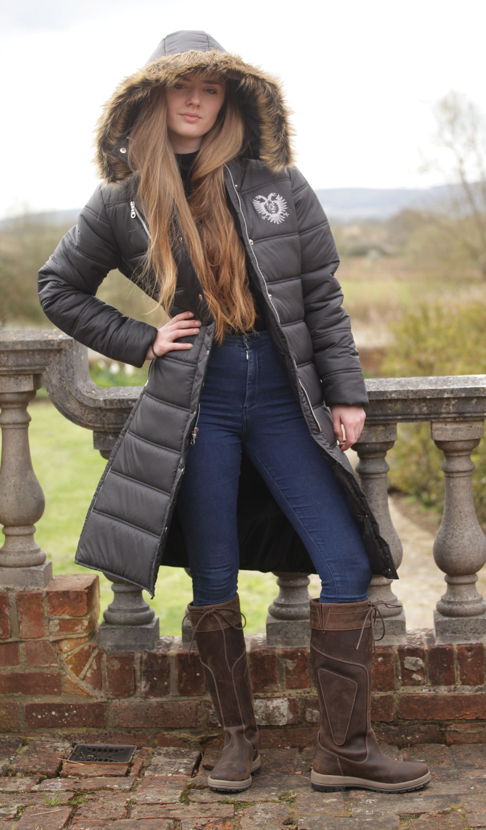 Rhinegold Quilted Winter Riding Jacket Fast Tack Direct