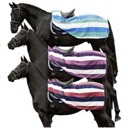 HKM Fashion Stripes Continental Fleece Exercise Sheet Rug