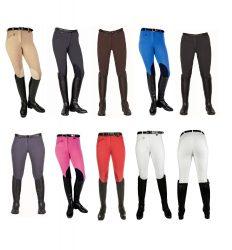 9064 Penny Easy Breeches With Faux Leather Kneepatch