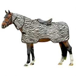 4727 zebra ride on fly rug sheet square