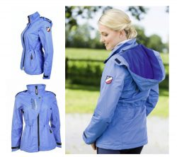 7649 HKM Pro Team Waterproof Coat / Lightweight Ladies Jacket