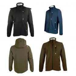 5274 Mens Softshell Waterproof Jacket Black Brown Navy Blue Olive