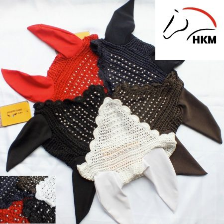 8360 HKM Silver Pearls Protection Fly Veil / Noise Muffler