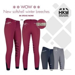 10477 HKM Winter Softshell Breeches ALL COLOURS