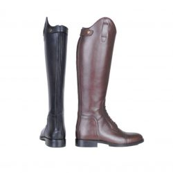 6551 Spain Long Leather Horse Riding Boots Black Brown