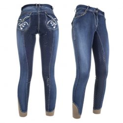 8210 HKM Pasadena Denim Breeches with Full Silicone Grip Seat