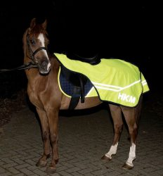 8633 HKM Hi Vis Exercise Rug Reflective Fluorescent Yellow