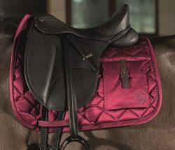 8724 Scotland Pocket Luxury Saddle cloth - Wine Red