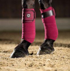 8825 Scotland Horse Fleece Bandages Wine Red