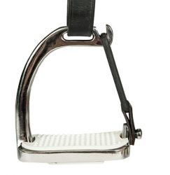 6596 HKM Stainless Steel Peacock Safety Stirrup Irons