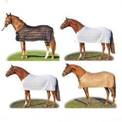 7021 HKM 'Stripes' Horse Protection Sheet / Fly Rug
