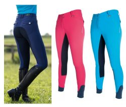 8227 HKM Ladies Pro Team NEON SPORTS Breeches with Alos Full