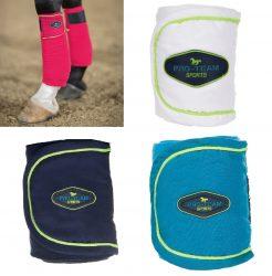 8235 HKM Pro Team NEON SPORTS Polar Fleece Leg Bandages on CLEARANCE