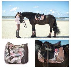 HKM Cavallino Marino SOFT POWDER Flower Comfort Padded GP Saddle Cloth