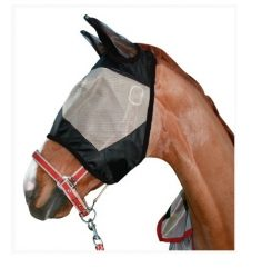 4072 HKM Anti-Rip Taupe & Black Fly Mask with Ears