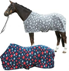 7552 HKM Stars Soft Fleece Cooler Rug ON CLEARANCE