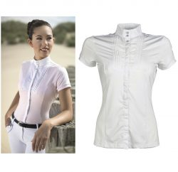 8076 HKM Ladies Designer Cavallino Marino Soft Powder Competition Shirt on CLEARANCE