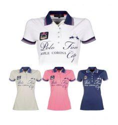 9558 HKM Ladies Designer Lauria Garrelli Santa Rosa Short Sleeved Polo Shirt