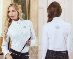 4429 HKM Ladies Designer Silver Crown Competition Show Shirt