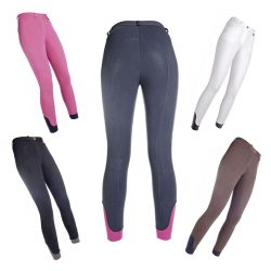 10540 HKM Ladies Value Stretch Breeches with Full Silicone Grip Seat