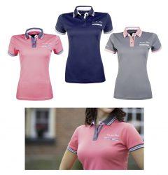 9235 HKM Ladies 'Live Love Ride' Summer Polo Shirt