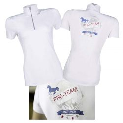 9570 HKM Performance LADIES White Show Competition Shirt