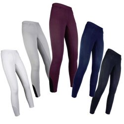 11106 HKM Comfort Pull On Riding Leggings Breeches - Silicone Seat