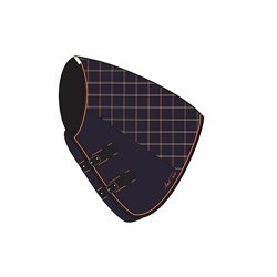 MARK TODD MEDIUMWEIGHT TURNOUT RUG NECK COVER - PLAID