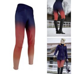 10150 HKM Pro Team Hickstead Riding Leggings with Silicone Grip Knee