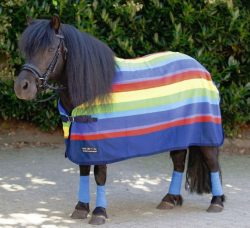 1358 HKM Shetland / Pony Rainbow Fleece Cooler Rug