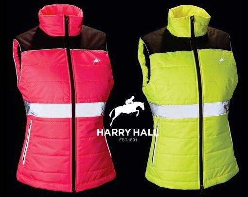 Harry Hall Hi Viz Quilted Waistcoat Gilet