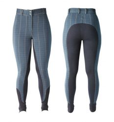 Harry Hall Ladies Queensbury Checked Breeches