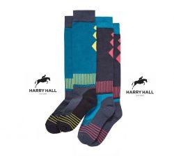 Harry Hall Ladies Socks - Brights - 2 Pack