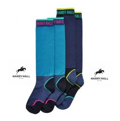 Harry Hall Ladies Technical Riding Socks - 2 Pack