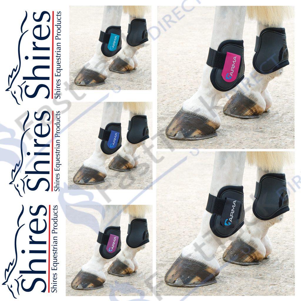 Black//Black Shires Arma Fetlock Boots