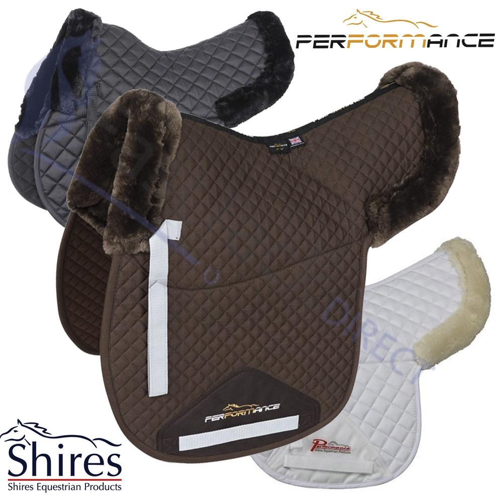Sheepskin Lined Saddle Half Pad Shires Performance Horse SupaFleece Faux Fur