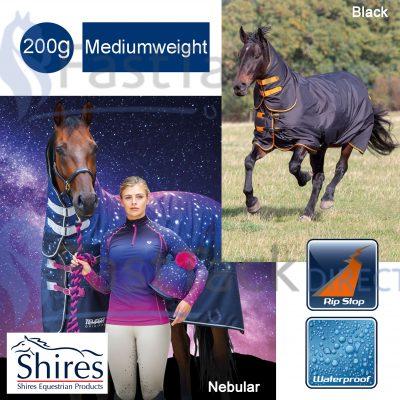 Shires Tempest Original 200g Medium Weight Combo Neck Turnout Rug