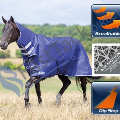 Shires Tempest Original Air Motion Lightweight No Fill Combo Neck Turnout Rug