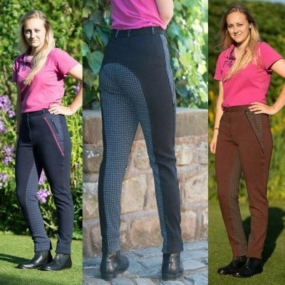 Gallop Ladies Classic Check Jodhpurs