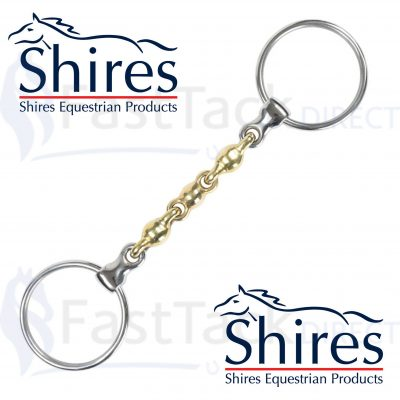 Shires Brass Alloy Loose Ring Waterford Bit